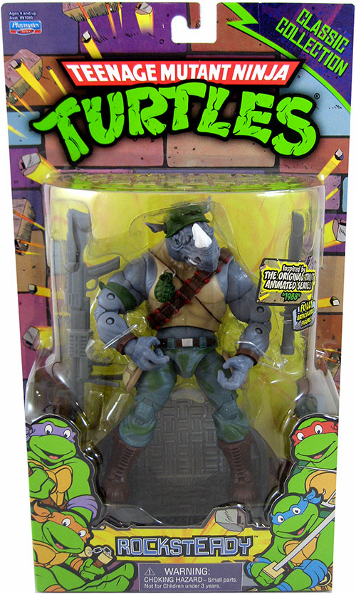 Teenage Mutant Ninja Turtles Classic Collection Rocksteady Figure