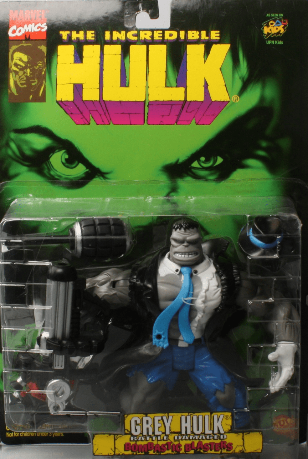 The Incredible Hulk Bombastic Blasters Battle Damaged Grey Hulk Figure