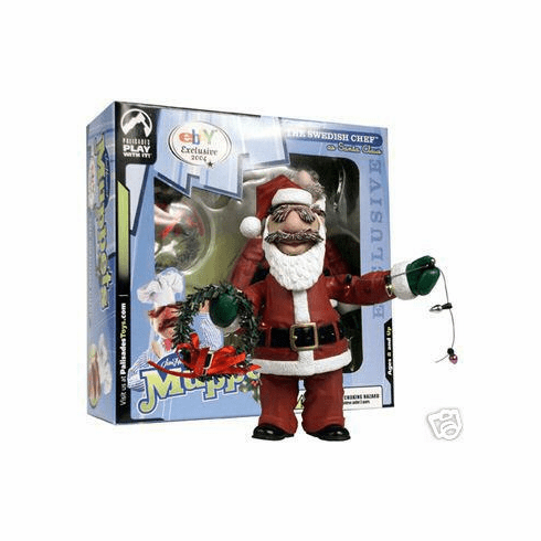 The Muppet Show Santa Swedish Chef Action Figure