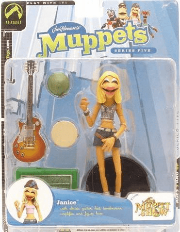 The Muppet Show Series 5 Janice Grey Stripe Shirt Action Figure