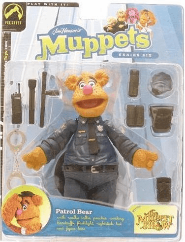 The Muppet Show Series 6 Patrol Bear Action Figure