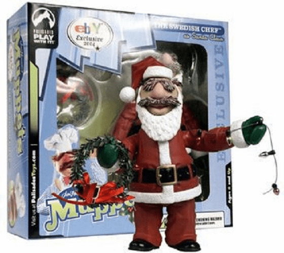 The Muppets Family Christmas Santa Swedish Chef Figure