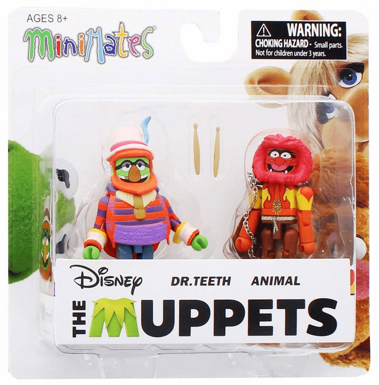 The Muppets Minimates Dr. Teeth and Animal Figure Set