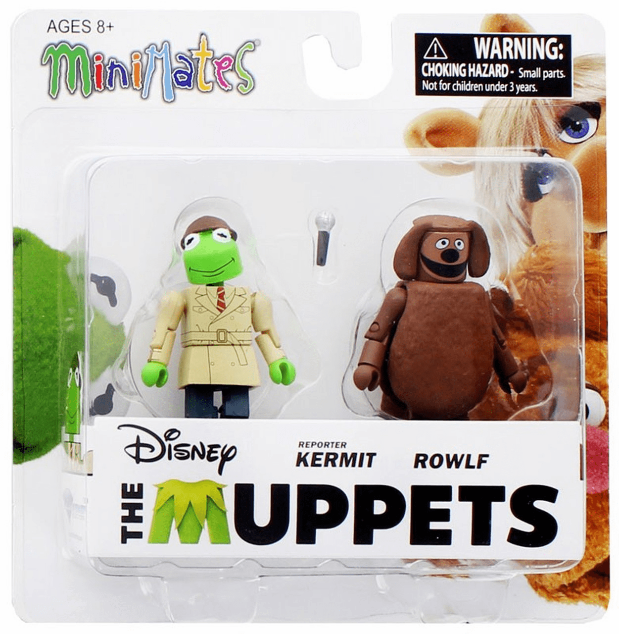 The Muppets Minimates Reporter Kermit and Rowlf Figure Set