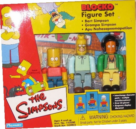 The Simpsons Blocko Set 2 Bart, Grandpa, Apu Figures