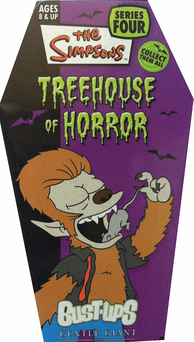 The Simpsons Treehouse of Horror Werewolf Bart Bust-Ups