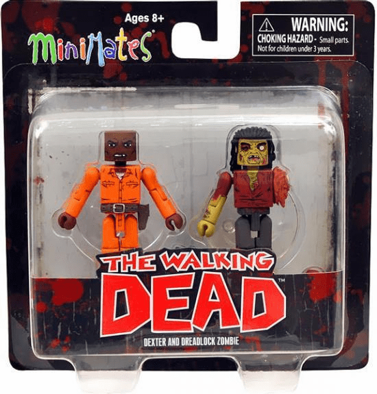 The Walking Dead Minimates Dexter & Dreadlock Zombie Set