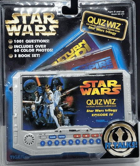 Tiger Electronics Star Wars Quiz Wiz Handheld Game