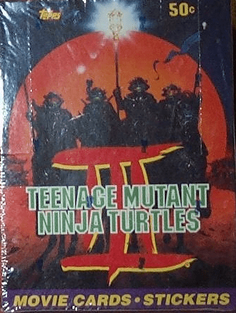 Topps Teenage Mutant Ninja Turtles III Movie Trading Cards Sealed Box