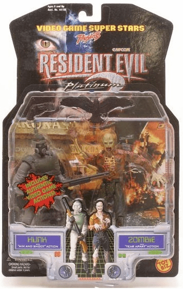 Toy Biz Capcom Resident Evil 2 Hunk and Zombie Action Figures