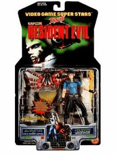 Toy Biz Capcom Resident Jill Valentine and Web Spinner Action Figure Set