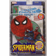 Toy Biz Spider-Man Classics Spider-Man with Comic Book Figure