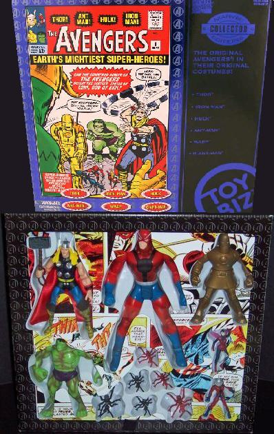 Toybiz Marvel Collector Editions Original Avengers Action Figure Set