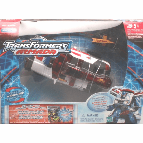 Transformers Armada Red Alert with Longarm Minicon Figure