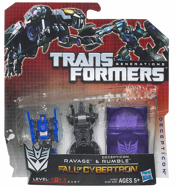 Transformers Fall of Cybertron Ravage and Rumble Mini 2-Pack Set