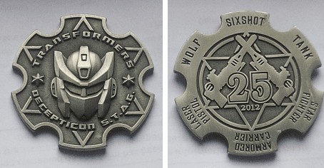 Transformers Masterpiece Decepticon Sixshot S.T.A.G. Coin