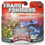 Transformers Universe Robot Heroes Rattrap and Megatron Figure Set
