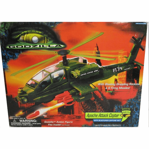 Trendmaster Godzilla Movie Apache Attack Copter