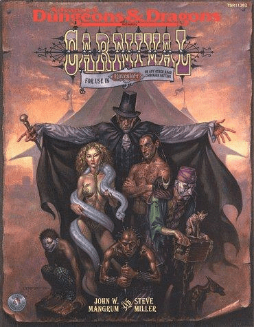 TSR ADD Ravenloft Carnival Role Playing Game Book