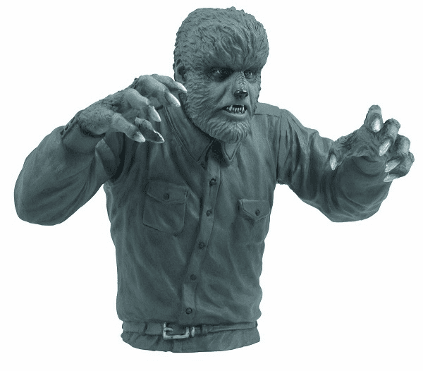 Universal Monsters Black and White Wolfman Bust Coin Bank