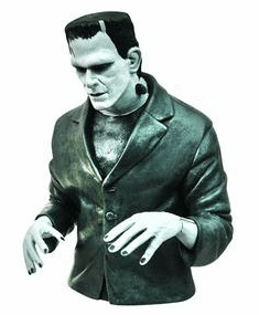 Universal Monsters Black & White Frankenstein Bust Coin Bank