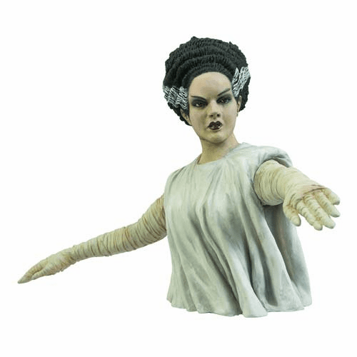 Universal Monsters Bride of Frankenstein Bust Coin Bank