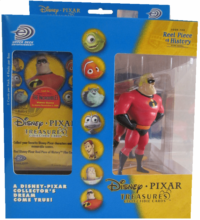 Upper Deck Disney Pixar Treasures The Incredibles! Mr. Incredible Collectible Cards Set