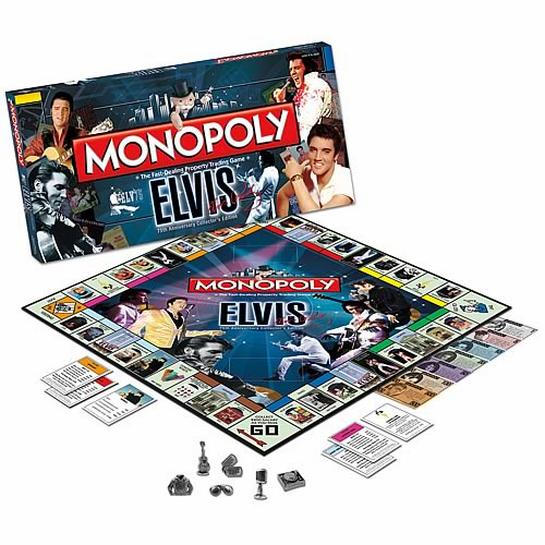 USAopoly Elvis Presley 75th Anniversary Monopoly Board Game