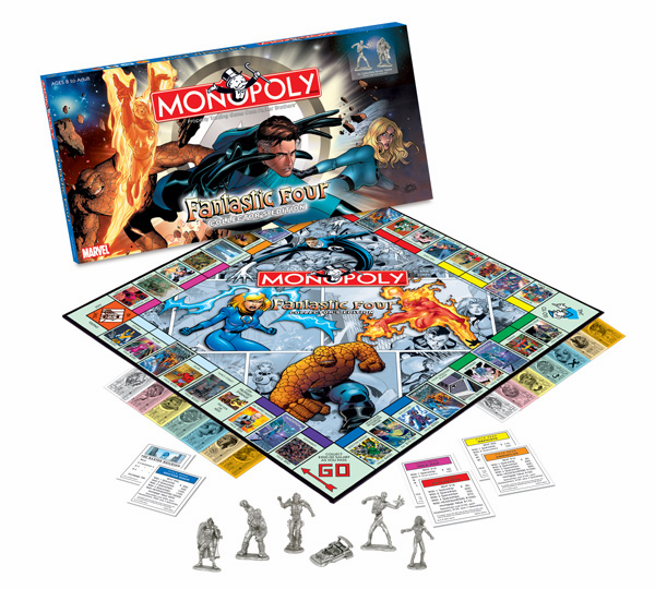 USAopoly Fantastic Four Monopoly Collector's Edition Board Game