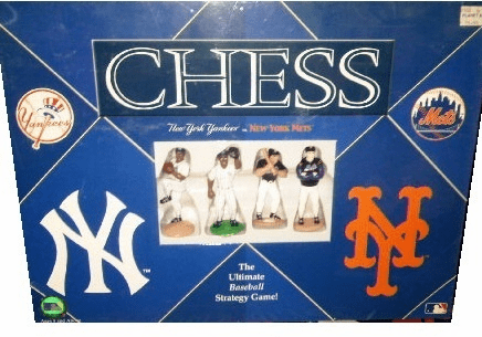 USAopoly New York Yankees versus New York Mets Chess Set