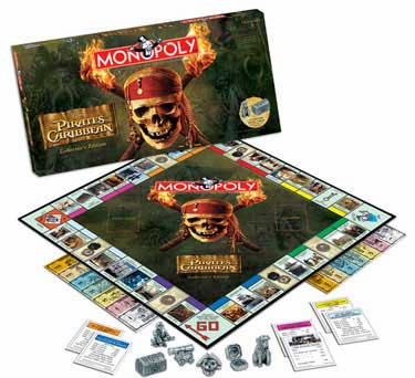 USAopoly Pirates of the Caribbean Monopoly Board Game