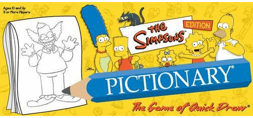 USAopoly The Simpsons Pictionary Board Game