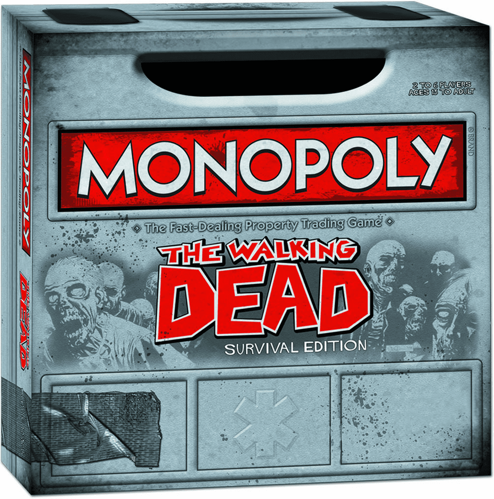 USAopoly The Walking Dead Survival Edition Monopoly Board Game