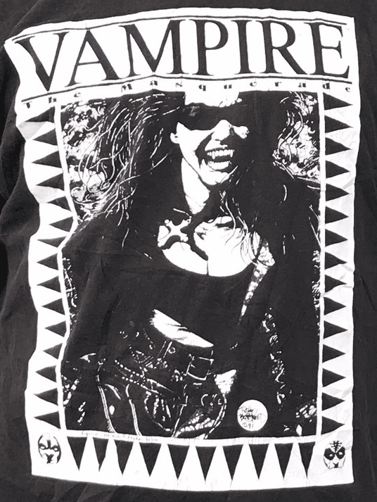 Vampire The Masquerade 1991 T-Shirt