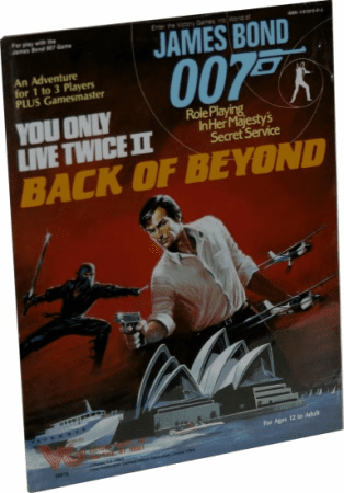 Victory Games James Bond 007 RPG Back of Beyond Module