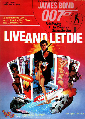 Victory Games James Bond 007 RPG Live and Let Die Box Set