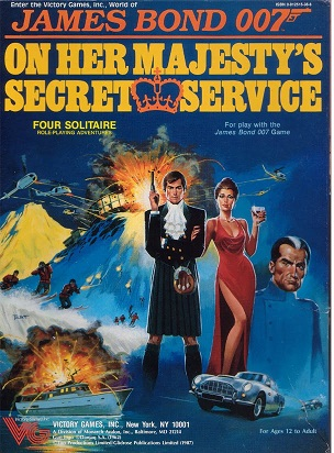 Victory Games James Bond 007 RPG On Her Majesty's Secret Service Set