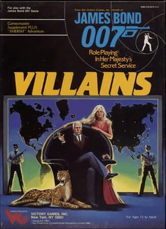 Victory Games James Bond 007 RPG Villains Box Set