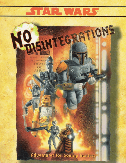 West End Games Star Wars Adventures for Bounty Hunters No Disintegrations RPG Book