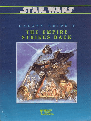 West End Games Star Wars Galaxy Guide #3 The Empire Strikes Back