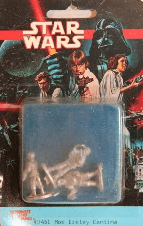 West End Games Star Wars Miniature Mos Eisley Cantina Blister Pack