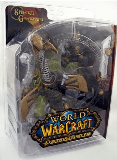 World of Warcraft Series 2 Gnome Warrior Sprocket Gyrospring Figure