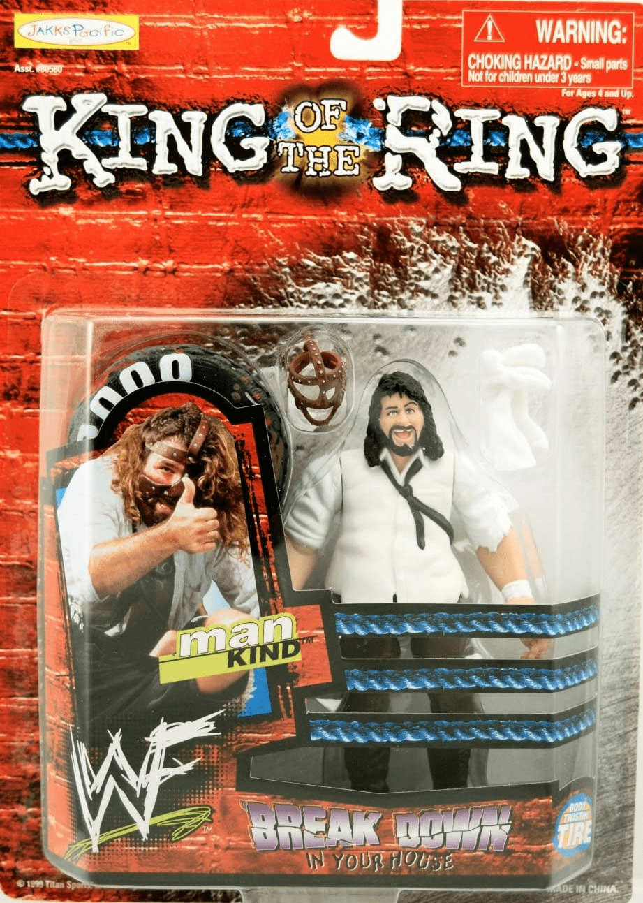 WWE King of the Ring Breakdown in Your House Mankind Figure