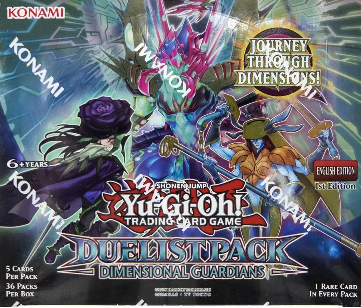 Yu-Gi-Oh Dimensional Guardians Duelist Pack Sealed Booster Box