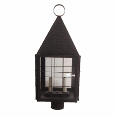 Colonial New England Post Mount Copper Lantern