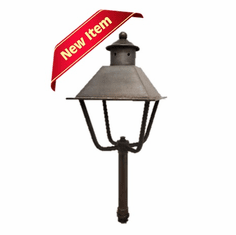 Zion Straight Top Garden Copper Lantern