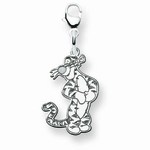 14k Gold Disney Tigger Charm with Lobster Clasp