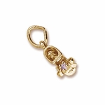 Baby Shoe June Birthstone Charm by Forever Charms
