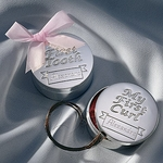 Elegant Silver First Tooth & Curl Set - Personalized