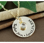 Name Charm Necklace in 14K Gold-filled